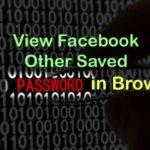 view facebook password