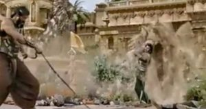 bahubali uprooted the tree