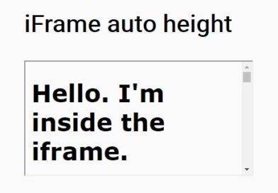 iframe dynamic height