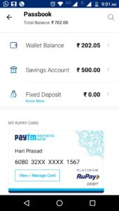 paytm account type