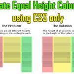 equal height columns problem