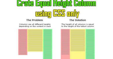 equal height columns problem