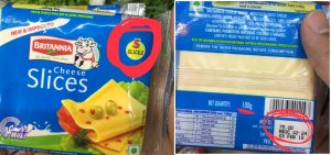 price of britania sliced cheese pack of 5