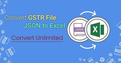 convert json to excel gst