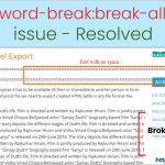 break all issue resolve