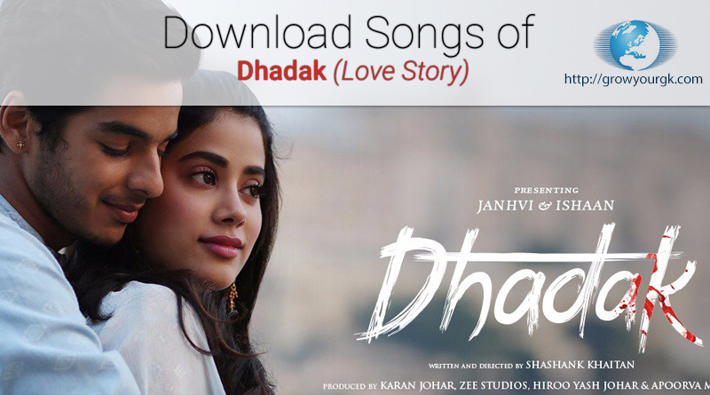 download dhadak songs