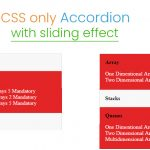 css only accordian