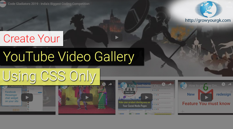 youtube video gallery css only